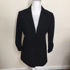 MICHAEL Michael Kors Black 3/4 Sleeve Blazer 4